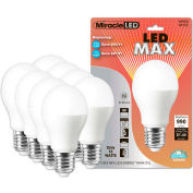MiracleLED 604776 LED Warm Max Bulb, A20, 12W, Package of 8