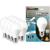 MiracleLED 604788 FANtastic Ceiling Fan & Appliance Light Bulb, A18, 3W, 8 bulbs per pack