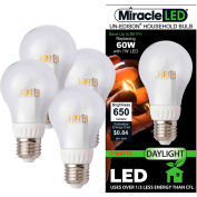 MiracleLED 604790 Un-Edison Clear Daylight Bulb, A19, 7W, 4 bulbs per pack