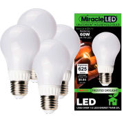 MiracleLED 604795 Un-Edison Frosted Daylight Bulb, A19, 7W, 4 bulbs per pack