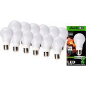 MiracleLED 604797 Un-Edison Frosted Daylight Bulb, A19, 7W, Package of 12