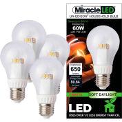 MiracleLED 604800 Un-Edison Soft Daylight Bulb, A19, 7W, 4 pack