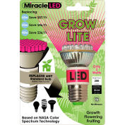 MiracleLED® Red And Blue Grow Bulb, 2W