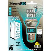 MiracleLED® Refrigerator/Freezer Bulb, White Bulb, 2W