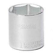 """Craftsman® Industrial™ 9-23081 1"""" Socket, 6 Pt., Standard, Inch, 3/8"""" Drive"""