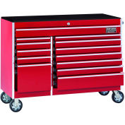"Craftsman® Industrial™ 38557 13-Drawer 56"" 9000 Series Rolling Cart Red"