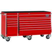 "Craftsman® Industrial™ 38561 14-Drawer 75"" 9000 Series Rolling Cart Red"