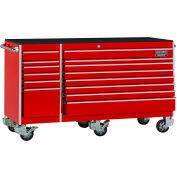 "Craftsman® Industrial™ 38561 14-Drawer 75"" 9000 Series Rolling Cart Red"