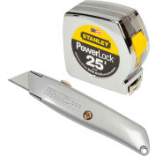 Stanley 90-082 25' PowerLock® Tape & Utility Knife Combo Pack
