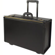 Stebco 251622 Synthetic Leather Business Case On Wheels, Black