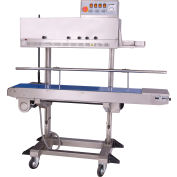 Sealer Sales Free Standing Vertical Band Sealer w/ Dry Ink Coding, Stainless Steel