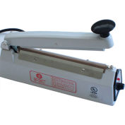 "Sealer Sales KF-200H-WHITE 8"" Hand Sealer w/ 2mm Seal Width, White"
