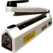 "Sealer Sales KF-300H-WHITE 12"" Hand Sealer w/ 2mm Seal Width, White"