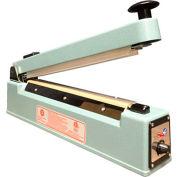"Sealer Sales KF Series 12"" Hand Sealer w/ Sliding Cutter & 2.7mm Seal Width, Blue"