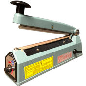 "Sealer Sales KF-400HC 16"" Hand Sealer w/ 2.7mm Seal Width w/ Sliding Cutter"
