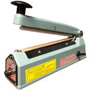 "Sealer Sales KF Series 16"" Hand Sealer w/ Sliding Cutter & 5mm Seal Width, Blue"