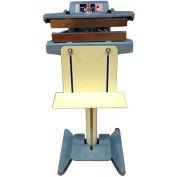 "Sealer Sales THS-400TC 16"" Direct Heat Sealer w/ 15mm Seal Width, PTFE Coated Meshed Seal Bars"