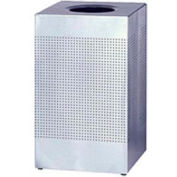 Rubbermaid® Silhouette SC18 Square Open Top Receptacle, 40 Gallon - Stainless Steel