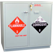 Acid (18x2.5 Liter)/Flammable (16x1 Gal.) Cabinet, Fully Lined, Self-Closing, 35 x 22 x 35-1/2