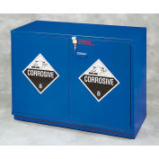 "22x2.5 Liter, Under-the-Counter Corrosive Cabinet, Partially Lined, Left Hinge, 23"" x 22"" x 35-1/2"""