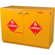 "32 Gallon, Under-the-Counter Flammable Cabinet, Flame Arrestors, Manual Close,35""W x 22""D x 35-1/2""H"
