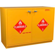 "52 Gallon, Under-the-Counter Flammable Cabinet, Flame Arrestors, Self-Closing,47""W x 22""D x 35-1/2""H"