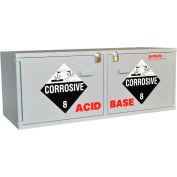 "Stak-a-Cab™ Combo Acid (10x2.5 Liter)/Base (10x2.5 Liter) Cabinet, 47""W x 18""D x 18""H"