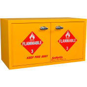"36 Gallon, Mobile ADA Flammable Cabinet, 34""W x 22""D x 26-1/2""H"