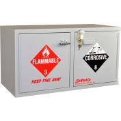 "Mobile ADA Combo Acid (9x2.5 Liter) /Flammable (16x1 Gal.) Cabinet, 34""W x 22""D x 26-1/2""H"