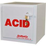 "6x2.5 Liter, Bench Polypropylene Acid Cabinet, 16""W x 16-1/2""D x 16""H"