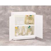 "30x2.5 Liter, Floor Plast-a-Cab® HDPE Acid Cabinet w/Top Tray, 31""W x 20""D x 36-1/2""H"