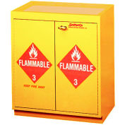 "32 Gallon, Floor Flammable Cabinet w/Top Tray, 31""W x 20""D x 36-5/8""H"