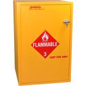 """30 Gallon, Floor Flammable Cabinet w/Flame Arrestors, Manual Close, 23-7/8""""W x 23-7/8""""D x 36-5/8""""H"""