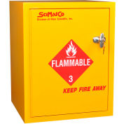 """6 Gallon, Bench Flammable Cabinet, Manual Close, 16-3/4""""W x 15-3/4""""D x 21-1/4""""H"""