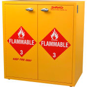 """24 Gallon, Jumbo Stacking Flammable Cabinet, Self-Closing, 30""""W x 18-1/2""""D x 32-1/2""""H"""