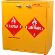 """24 Gallon, Jumbo Stacking Flammable Cabinet, Manual Close, 30""""W x 18-1/2""""D x 32-1/2""""H"""