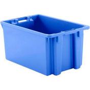 "Schaefer Stack & Nest Tote FB603 - 23""L x 15""W x 12""H - Open Handles - Blue - Pkg Qty 15"