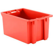 """Schaefer Stack & Nest Tote FB603 - 23""""L x 15""""W x 12""""H - Open Handles - Red - Pkg Qty 15"""