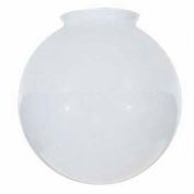 Satco 50-144 Sprayed Glossy White Ball  8-in. Diameter