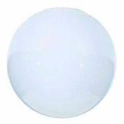 Satco 50-154 Blown Glossy Opal  Neckless Ball 10-in. Diameter
