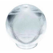 Satco 50-928 Clear Prismatic Ball  8-in. Diameter