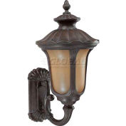 """Nuvo 60/3901 Beaumont ES-1 Light Large Wall, Arm up, Amber Water, Fruitwood, 14""""W X 28""""H"""