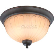 "Nuvo 60/4232 Carousel-2 Light Ceiling-Flush Dome Fixt., Auburn Beige, 13.25""W X 7.25""H"