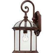"Nuvo 60/4965 Boxwood-1 Light Outdoor Wall, Clear Beveled, Rustic Bronze, 9.875""W X 19""H"