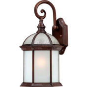 "Nuvo 60/4982 Boxwood ES-1 Light Outdoor Wall, Frosted Beveled, Rustic Bronze, 8""W X 15.75""H"