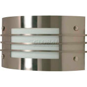 """Nuvo 60/936, 1 Light-Wall Fixt., Frosted, Brushed Nickel, 12""""W X 7.25""""H"""