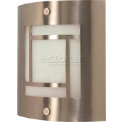 "Nuvo 60/948, 1 Light-Wall Fixt., Frosted, Brushed Nickel, 9""W X 10""H"