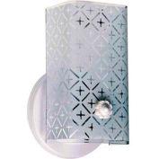 "Satco 76-273 1 Light - 7"" - Vanity - w/Diamond ""U"" Channel Glass  White"