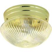 "Nuvo 76/252, 2 Light-Ceiling-Flush Mount, Medium Clear Ribbed Mushroom, 9.5""W X 6""H"