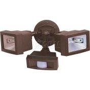 "Nuvo 76/507, 2 Light-Flood Light, Twin Mini Halogen W/Motion Sensor, Black, 15""W X 7""H"